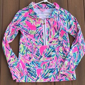 Lilly Pulitzer half zip XS shirt top